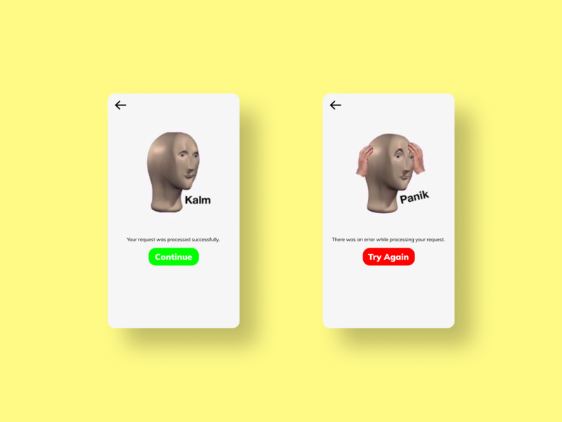 Daily UI #011 Success and Error Flash Cards