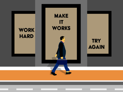 Work Hard artwork artist flat flat illustration flatdesign illustration art illustrator daily ui typography illustration vector affinitydesigner design