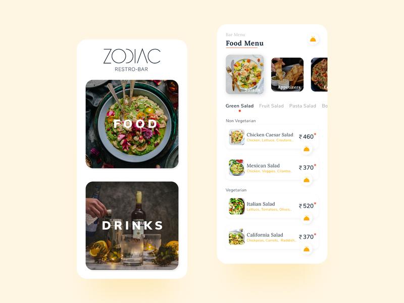 Food Menu App modern interface design mobile ui design mobile app design mobile app mobile ui menu app menu food food app interface appuidesign appui app simple minimal ui design
