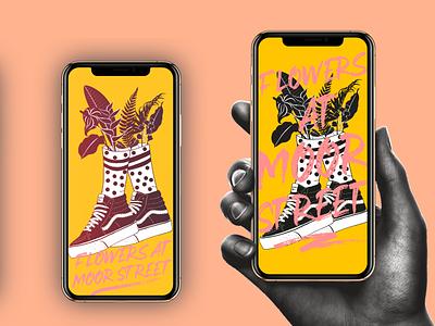 FAMS branding vector illustration screensaver