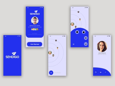 """""""Sendigo"""" Sending app Design ( UI Design )"""