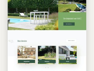 Greenstyle - Garden & landscape design landing page ui landingpage website architecture design nature green architecture gardening garden