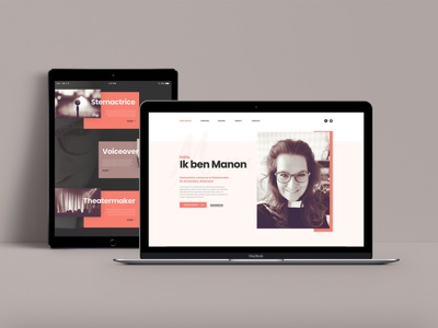 Landing page for a (voice) actress branding theatre voice actress homepage grid adobexd xd ui ux website webdesign landing page