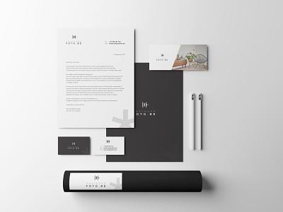 Photography logo & stationary print graphic desig logo design business card minimal minimalistic branding stationary logo photography