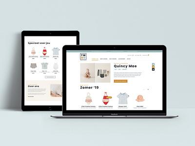 Kids fashion e-commerce kids fashion store webshop ux ui landing page concept e-commerce fashion landing page