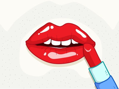 Lady Beard makeup beard character illustrator lipstick lips illustration