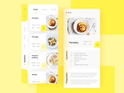 Daily UI 040 Recipe recipe dailyui040 appdesign ui dailyui