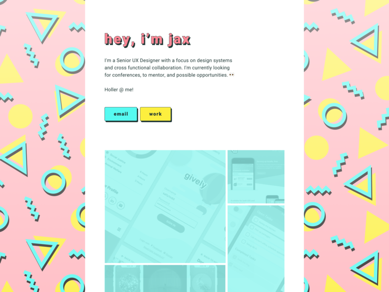 Personal Site design system styleguide interface design uiux portfolio pattern 90s vintage retro colorful web design