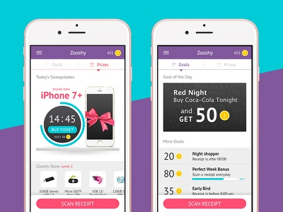 Goals and Prizes ios ui app