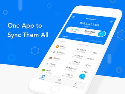 blox app sketch portfolio cryptocurrency bitcoin ios android mobile ui app crypto