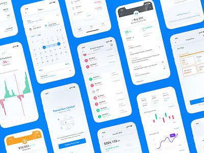 blox UI Updates clean dashboad onboarding filters mobile ui app design design finance app crypto finance iphonex mobile app mobile cryptocurrency ios android ux app ui sketch