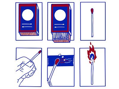 How to start a dumpster fire illustration scca design