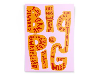 BIG PIG advertising typography design illustration