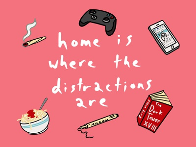 Distractions truth design illustration