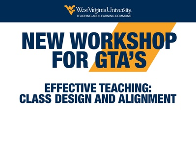 New Workshop For GTAs HTML Email