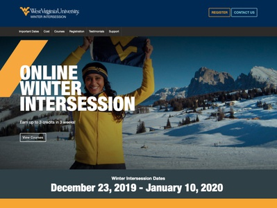 WVU Winter Intersession Website