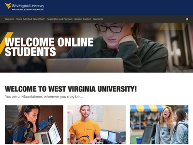 WVU Online Student Resources Website