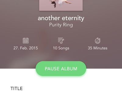 Music Player App lyrics equalizer audio controller purity ring app music photo ux ui daniel fass iamczarny