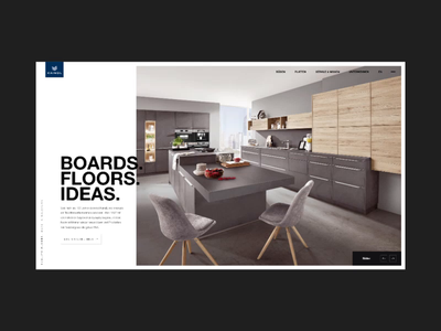 Kaindl - Floors and Boards from Salzburg Homepage Animation wood modern web design after effects adobe xd pixelart kaindl website corporate design animation motion ux ui homepage