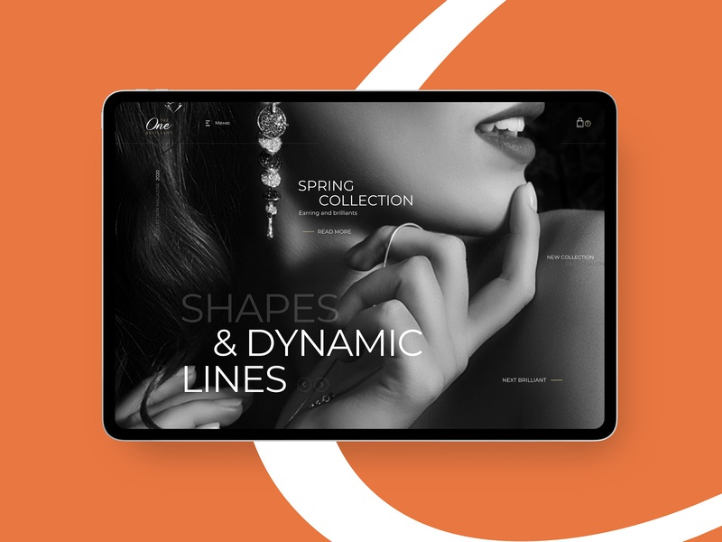 Ecommerce part uidesign uiux webdesig jewelry design website design jewelry web