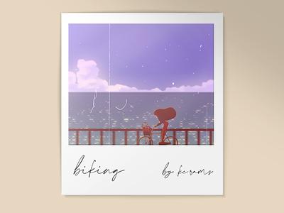 Biking digital art photoshop design background illustration