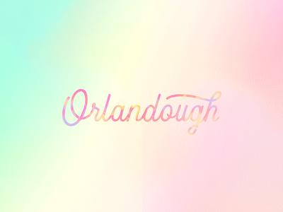 Orlandough Brand Identity donuts soft color dreamy logo food and beverage branding design brand identity brand design illustration illustrative branding design branding