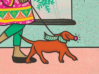 Holiday Pup puppy dog holiday vector illustrator community project brand design illustrative branding design illustration branding