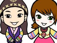 Mini Hanbok Couple