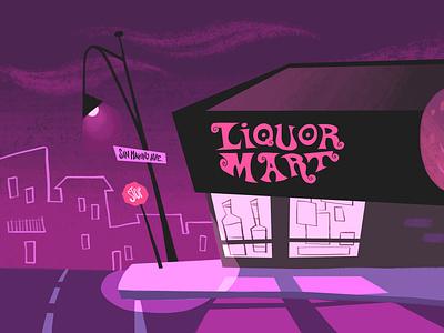 Liquor Mart Painting tv backgrounds background painting digital illustration photoshop