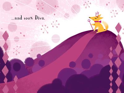100% Diva digital illustration childrens book puppy photoshop digital art children book illustration kid lit art childrens illustration
