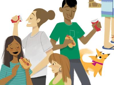 Dulce at the Party photoshop digital painting digital art book illustration kid lit art