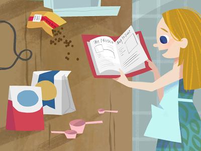 Baking Together - Crop 2 illustration digital art digital illustration photoshop