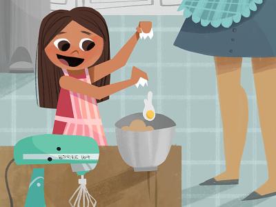 Baking Together - Crop 1 digital art digital illustration illustration photoshop