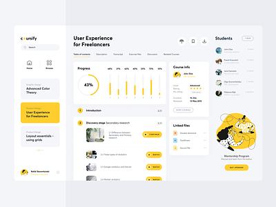 Coursify branding illustration minimal website ios design 2019 app clean ui