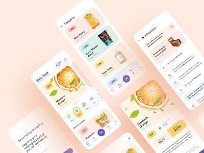 Shoplio 2020 trends 2020 ux flat minimal ios creative design app clean ui