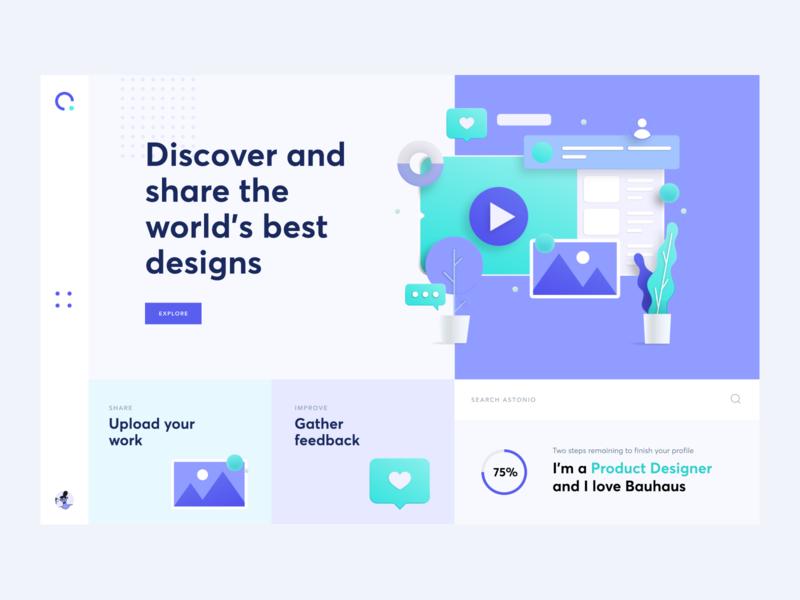 Astonio ux vector branding logo flat minimal website design clean ui