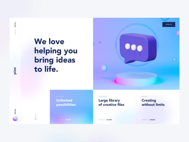 Pixa 2020 illustration blur gradient minimal ux creative design clean ui