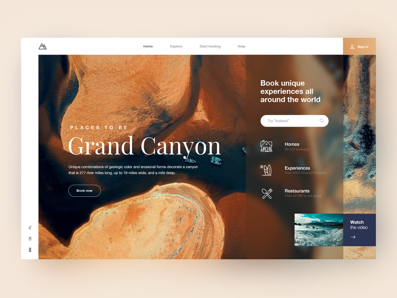 Booking service design website app ux ui