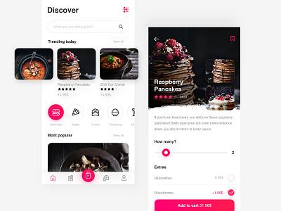 Restaurant App restaraunt typography creative animation ios clean ux app ui
