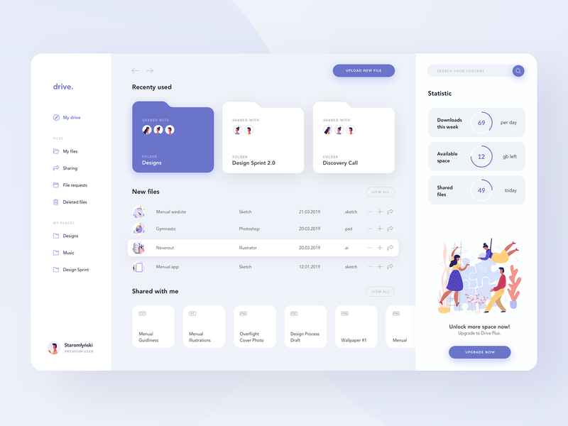 Drive Storage sketch files dash stats illustrator minimal logo illustration branding website design 2019 creative animation ux app clean ui
