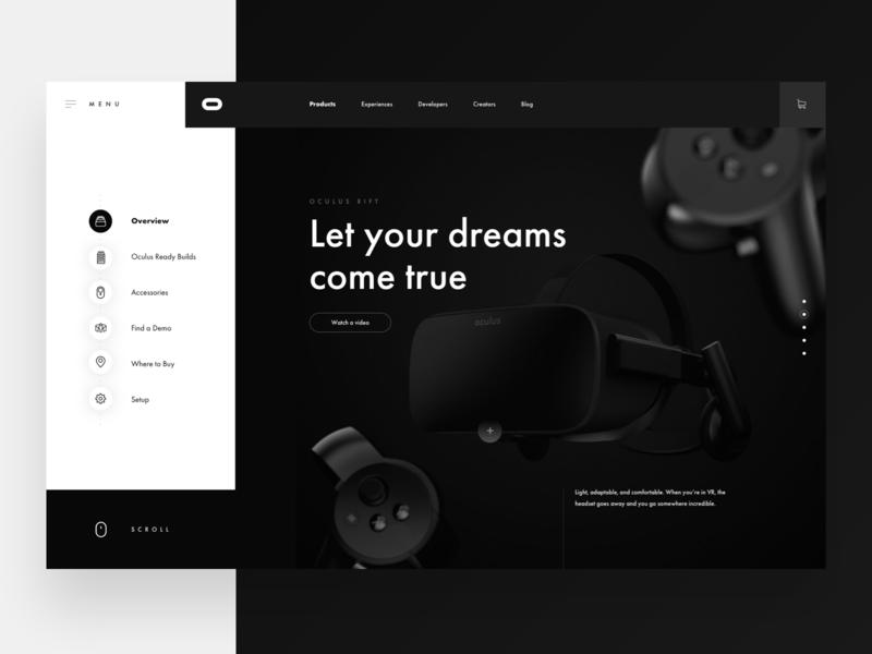 Oculus Exploration oculus virtual reality logo minimal flat web creative vector typography website 2019 design clean ux ui