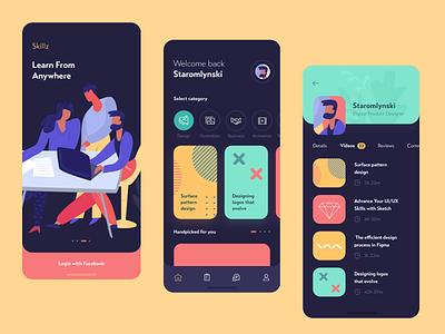 Skillz illustrator branding vector minimal illustration flat ios 2019 creative design clean app ux ui