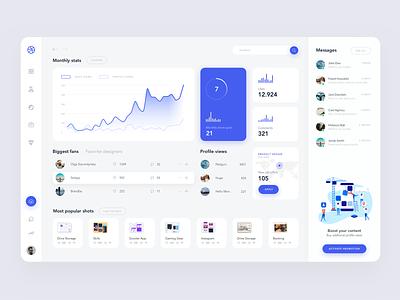 Stats Dashboard product design figma sketch flat website clean 2019 creative design app ux ui