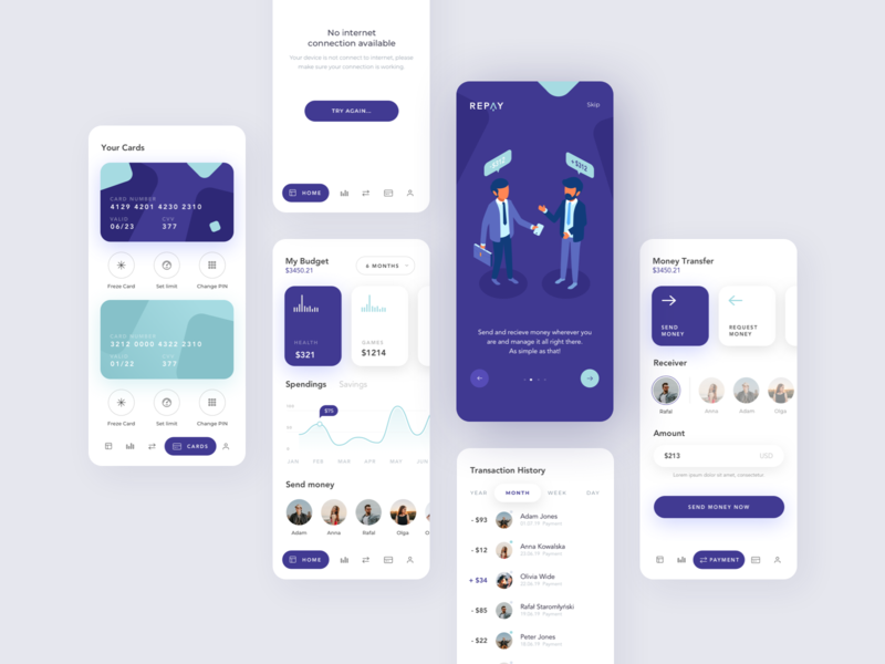 Repay illustrator branding logo minimal illustration flat ios 2019 creative design app ux clean ui