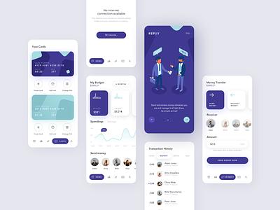 Repay illustrator branding logo minimal illustration flat ios 2019 creative design app ux clean ui