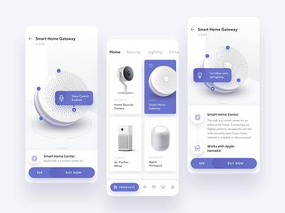 Smart Home Appliances minimal flat ios creative 2019 design app ux clean ui