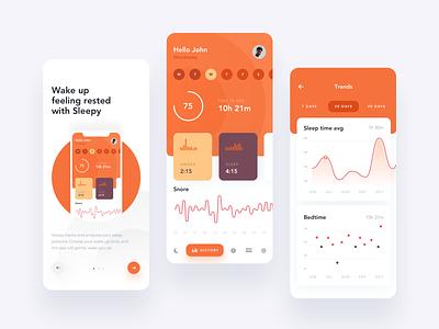 Sleepy - sleep tracking ios creative 2019 design app ux clean ui