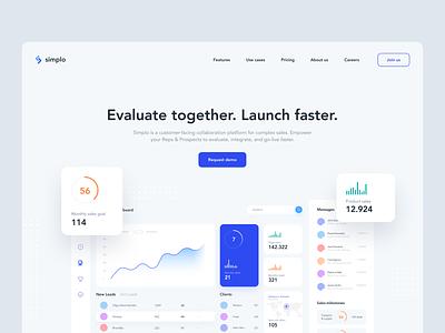 Simplo Landing Page logo branding minimal website creative design app ux clean ui