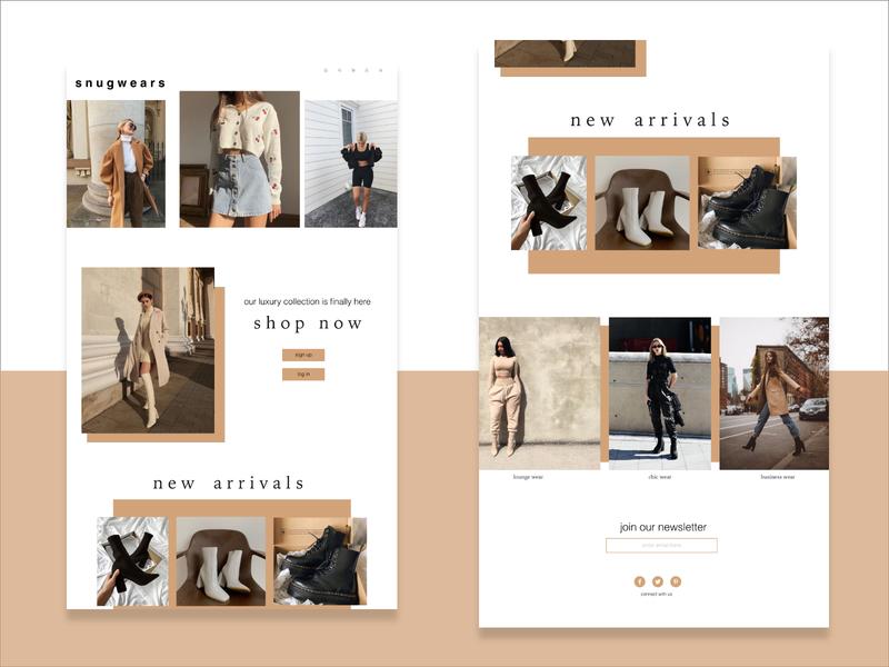 E commerce page clean dailyui landing page minimalistic minimal concept uiux ui design ui