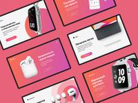 Advertising banners minimal flat web ui design banner